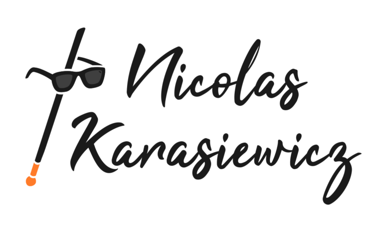 Logo de Nicolas Karasiewicz : une canne et des lunettes